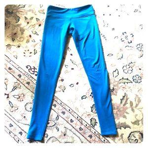 Bright blue lululemon leggings